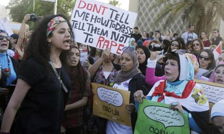 Women chant slogans