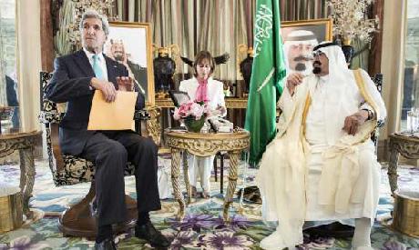Kerry, King Abdullah