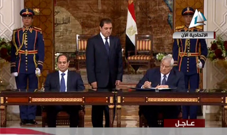 El-Sisi and Adly Mansour