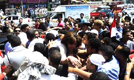 Mass sexual harassment assault in Tahrir sq