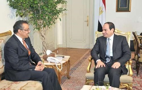 Ethiopian Minister with El-Sisi