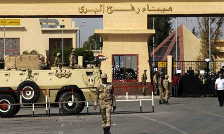 Rafah border crossing on Egypt-Gaza border