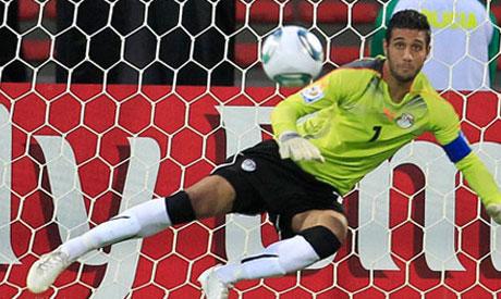 Zamalek Keeper Ahmed El-Shennawy (Reuters)
