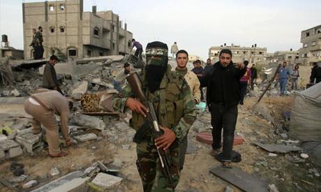 A Palestinian Hamas militant