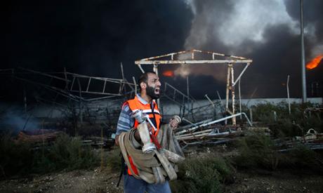 Palestinian firefighter