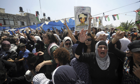 funeral of 16-year-old Mohammed Abu Khdeir
