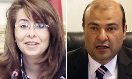 Ghada Waly and Khaled Hanafy