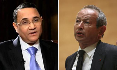 Abdel-Rehim Ali (L) and Naguib Sawiris (R)