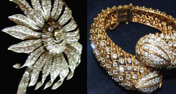 a brooch and a ring