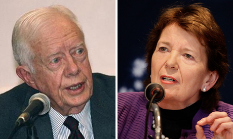 Jimmy Carter and Mary Robinson