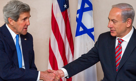 John Kerry and enjamin Netanyahu