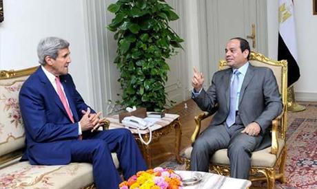 Abdel Fattah El-Sisi with John Kerry