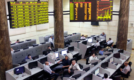 Traders work at Egypt