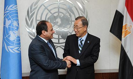 Abdel-Fattah el-Sissi and Ban Ki-moon