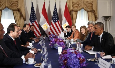 El-Sisi meeting Obama at UN