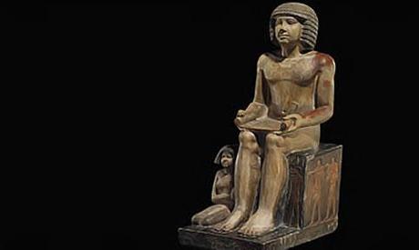 The statue, of Egyptian scribe Sekhemka