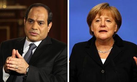 German Chancellor Angela Merkel and Egypt