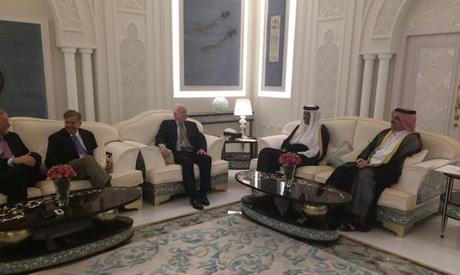 U.S. delegation meeting with the Emir of Qatar, HH Sheikh Tamim bin Hamad Al-Thani