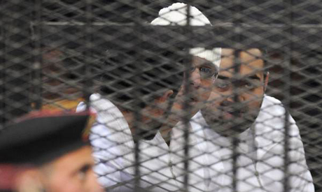 Political activists Ahmed Maher , Ahmed Douma and Mohamed Adel