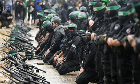 Palestinian members of al-Qassam Brigades