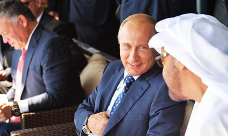 Russian President Vladimir Putin and Abu Dhabi Crown Prince Muhammad bin Zayed Al-Nahyan