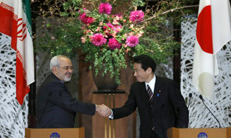 Iranian FM and his Japanese Counterpart