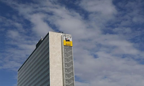 The headquarters of the Italian Eni gas company in Rome (Reuters)