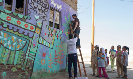 El-Borollos Festival for Drawing on the Walls