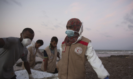 Members of the Libyan Red Crescent