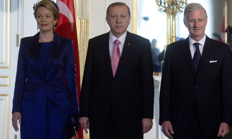 Recep Tayyip Erdogan, King Philippe, Queen Mathilde