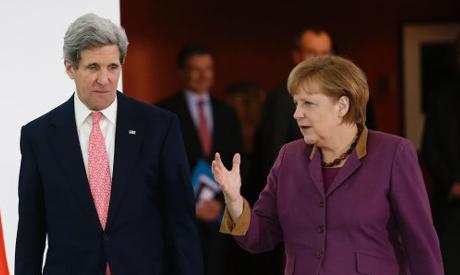 Kerry with Merkel