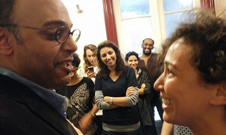 Hossam Bahgat with Yara Sallam