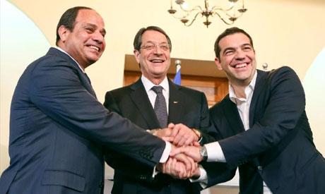 Sisi, Tsipras and Anastasiades