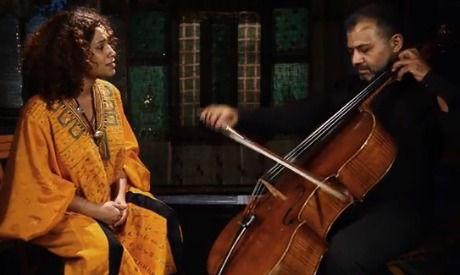 Tunisian musician Ghalia Benali and Egyptian musician Khaled Dagher