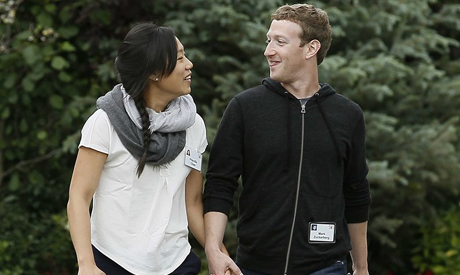 Mark Zuckerberg and his wife