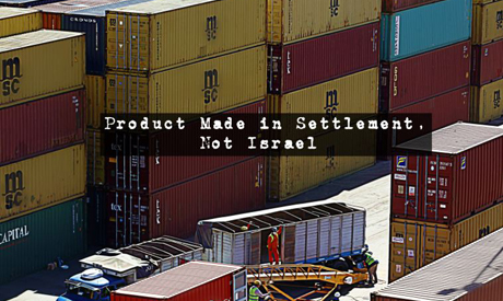 products from Jewish settlements