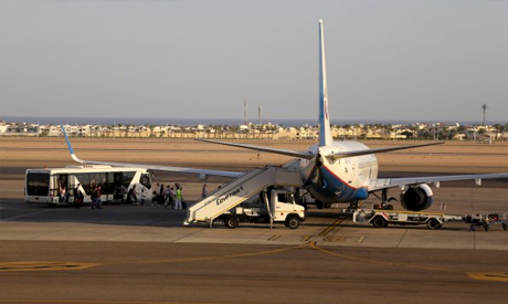 Russian airplane in Sharm