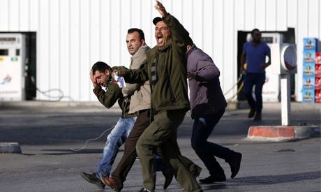 Palestinian protester injured
