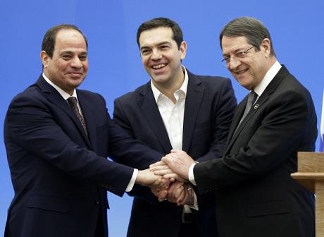 Sisi, Tsipras, Anastasiades