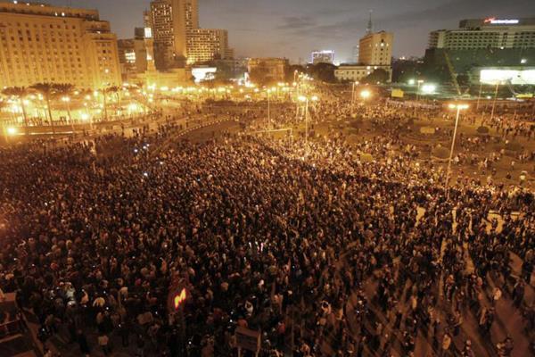 Tahrir Square on 25 January 2011