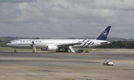 Air France jet liner in Kenya