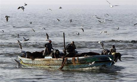 """Egyptian fishermen """"Reuters"""""""