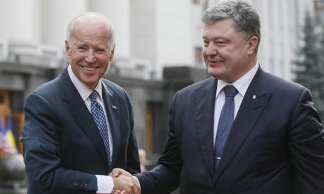 Biden, Poroshenko