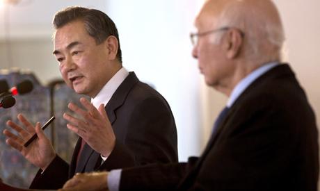 Wang Yi, Sartaj Aziz