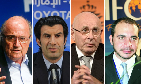 The four candidates running for the FIFA presidency