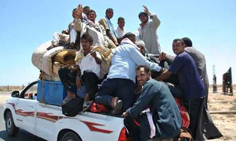 Salloum border crossing