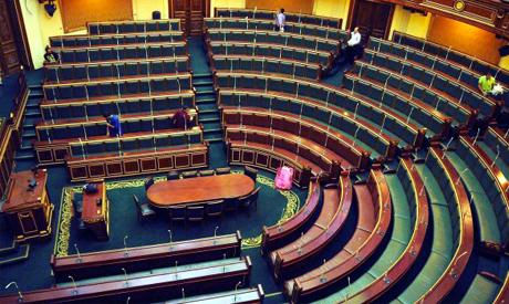 Empty Egyptian parliament