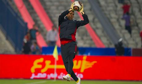Ahly goalkeeper Shrief Ekramy