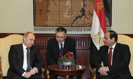 Vladimir Putin and Abdel Fattah al-Sisi
