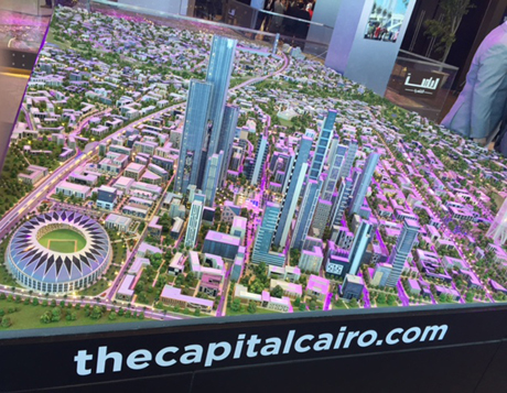 model of a planned new capital for Egypt